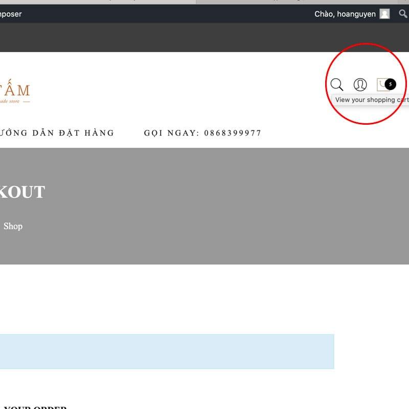 Hướng dẫn đặt hàng trên website da tấm
