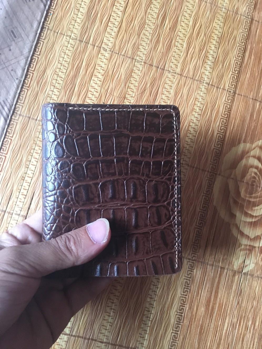 học làm ví da bò nam tặng người thân