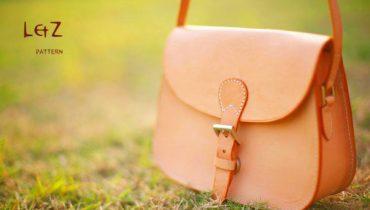 Bản rập thiết kế túi đeo chéo da bò cho nữ