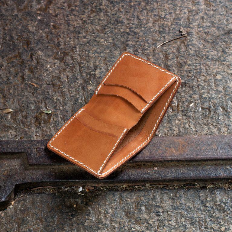 Bản rập làm ví da nam: Bi-fold wallet. Hướng dẫn chi tiết.