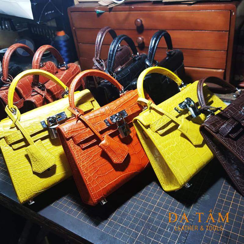 Đơn hàng túi da thật handmade