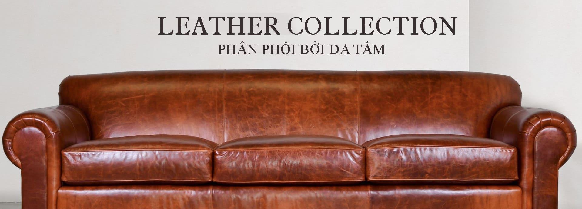 Bộ sofa da thật sang trọng cho phòng khách của bạn