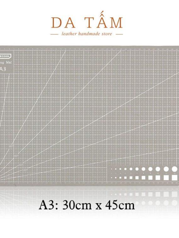 Bảng cắt thủ công tự liền Size A3 màu ghi xám
