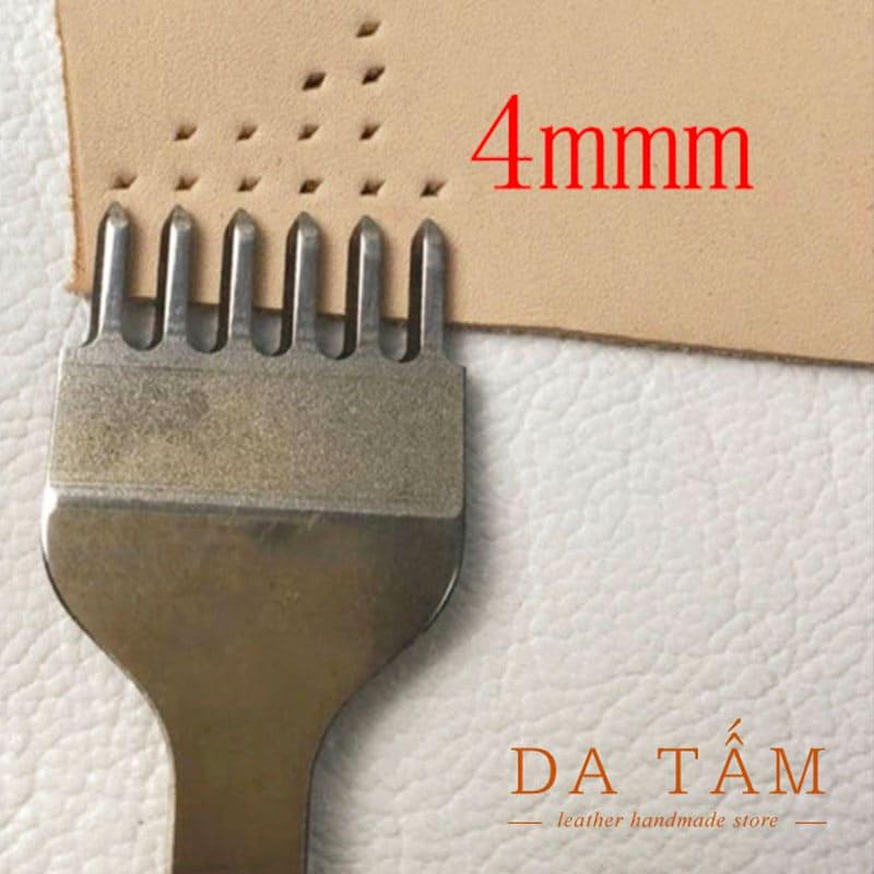 Bộ đục trám 4mm dụng cụ làm da handmade