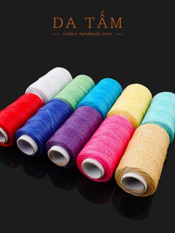 Chỉ sáp dẹt may đồ da handmade các màu