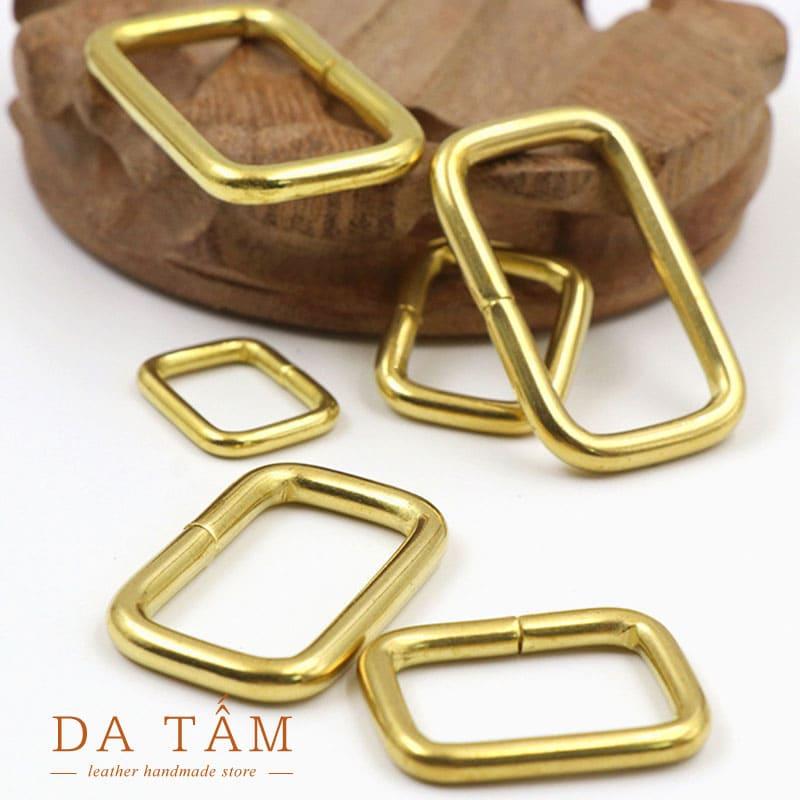 Khoen chữ nhật đồng thau phụ kiện túi xách handmade