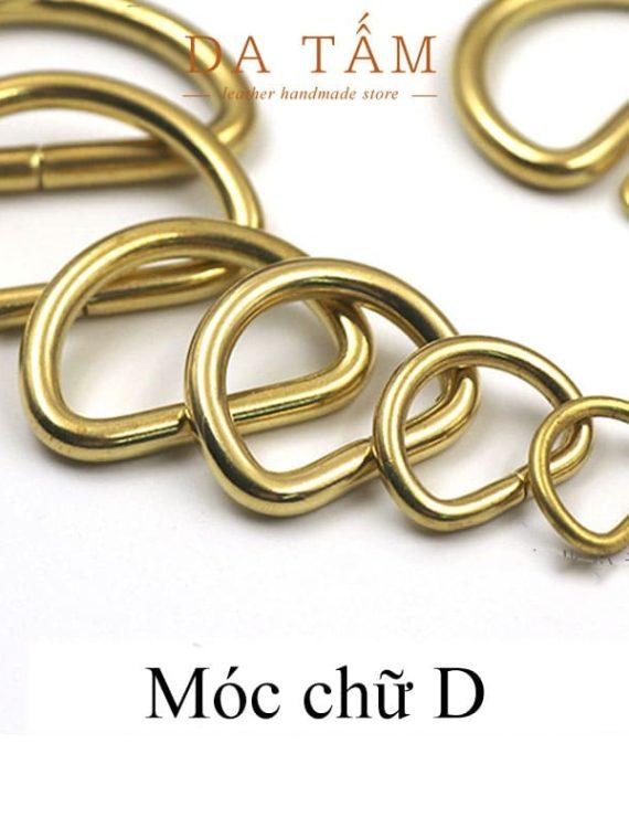 Khoen móc chữ D bằng đồng thau