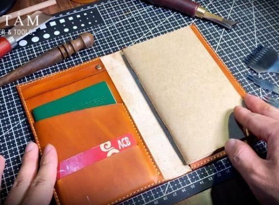 Hướng dẫn làm bìa sổ da thật handmade