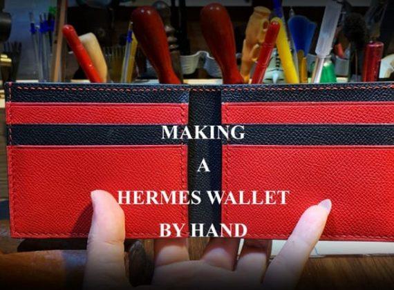Hướng dẫn làm ví da Hermes đơn giản tại nhà