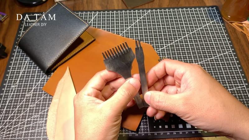 Kỹ thuật đục và khâu các sản phẩm đồ da thật handmade
