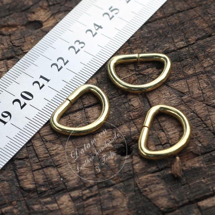 Khoen D đồng nguyên chất size 19mm
