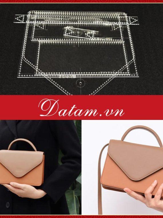 Bản vẽ thiết kế túi nắp gập nữ cao cấp
