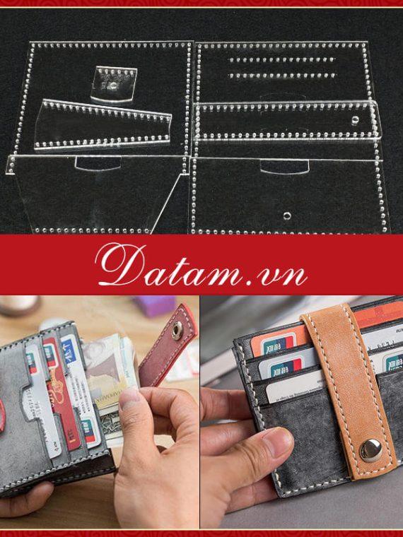 Bản rập chi tiết thiết kế mẫu ví thẻ