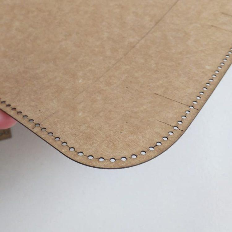 Bản rập thiết kế đồ da handmade chất liệu bìa cứng