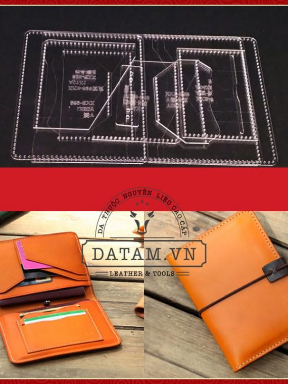 Bản rập thiết kế hướng dẫn làm ví da passport