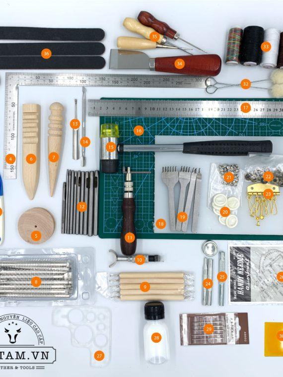 Bộ dụng cụ làm đồ da handmade nâng cao